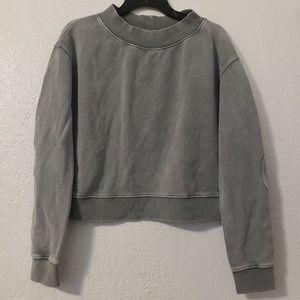 Free People Grey Crop Sweatshirt